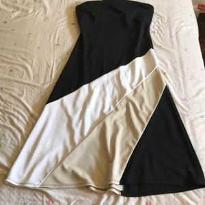 Elastic Strapless Dress by Express